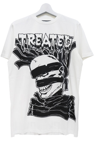 BLACK SCALE STOMACH PAIN TEE WHITE