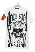 BLACK SCALE HARA-KIRI TEE WHITE