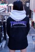 THRASHER TH8962 BBQ COACH JACKET BLACK/PURPLE