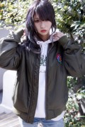 TOY MACHINE TMF18JK19 BOMBER JACKET OLIVE