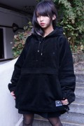 SILLENT FROM ME LAX -Cord Anorak- BLACK