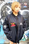 PUNK DRUNKERS [PDSxTOY MACHINE]MA-1.JKT BLACK