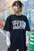 TEARS OF TRAGEDY×GEKIROCK CLOTHING 限定コラボ・Tシャツ BLACK