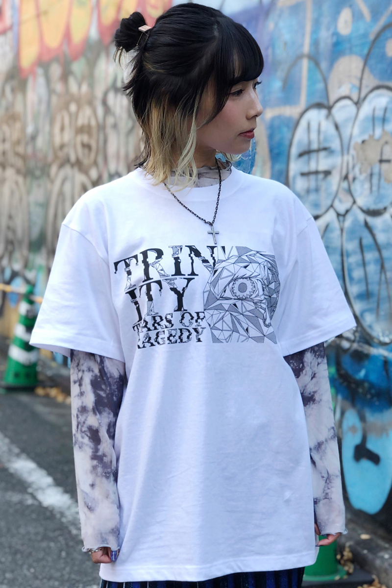 【予約商品】TEARS OF TRAGEDY×GEKIROCK CLOTHING 限定コラボ・Tシャツ WHITE