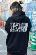 TEARS OF TRAGEDY×GEKIROCK CLOTHING 限定コラボ・パーカー BLACK