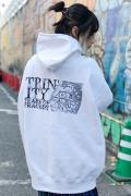 TEARS OF TRAGEDY×GEKIROCK CLOTHING 限定コラボ・パーカー WHITE