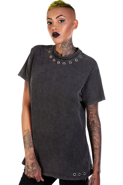 DISTURBIA CLOTHING Lou Eyelet Tee