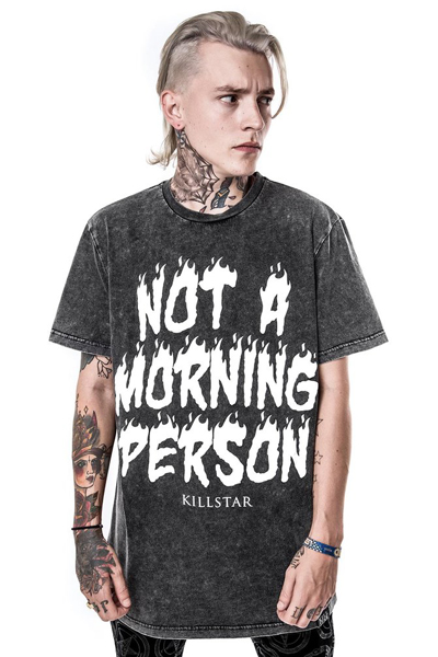 KILL STAR CLOTHING (キルスター・クロージング) Morning Person T-Shirt [ENZYME]