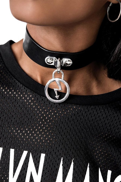 MARILYN MANSON×KILL STAR CLOTHING Repent Faux Leather Choker [B]