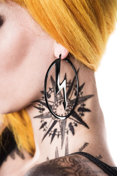 KILL STAR CLOTHING (キルスター・クロージング) Number 7 Hoop Earrings [B]