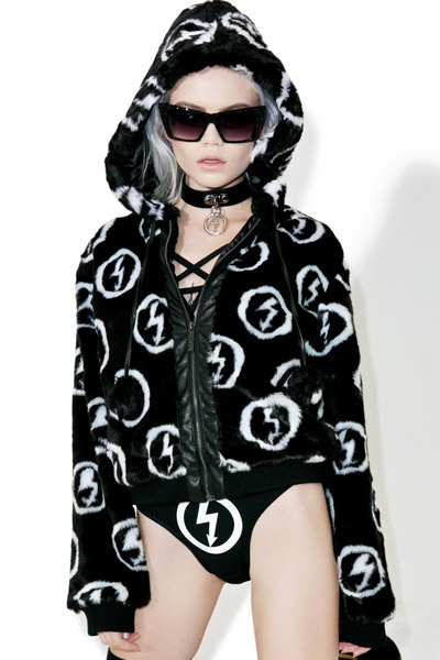 KILL STAR CLOTHING (キルスター・クロージング) Faux Fuck 90's Fur Jacket [B]