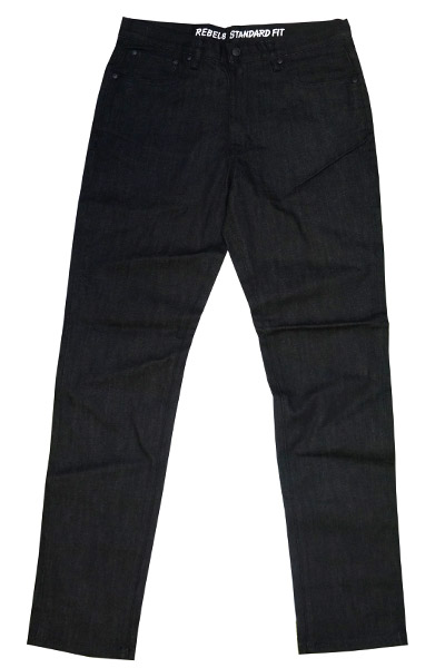 REBEL8 STANDARD FIT PANT BLACK DENIM