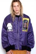 "NOT COMMON SENSE ""BREAK OUT""MA-1 JACKET PURPLE"
