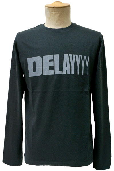 FUZZ REZ ZWEEP DELAY LONG SLEEVE TEE BLK