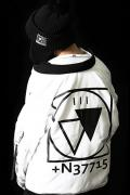 SILLENT FROM ME CRYPTIC -Flight Jacket-WHITE