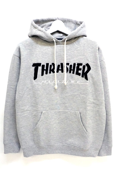 THRASHER TH8502LTE HOMETOWN EMB HOODIE GRAY