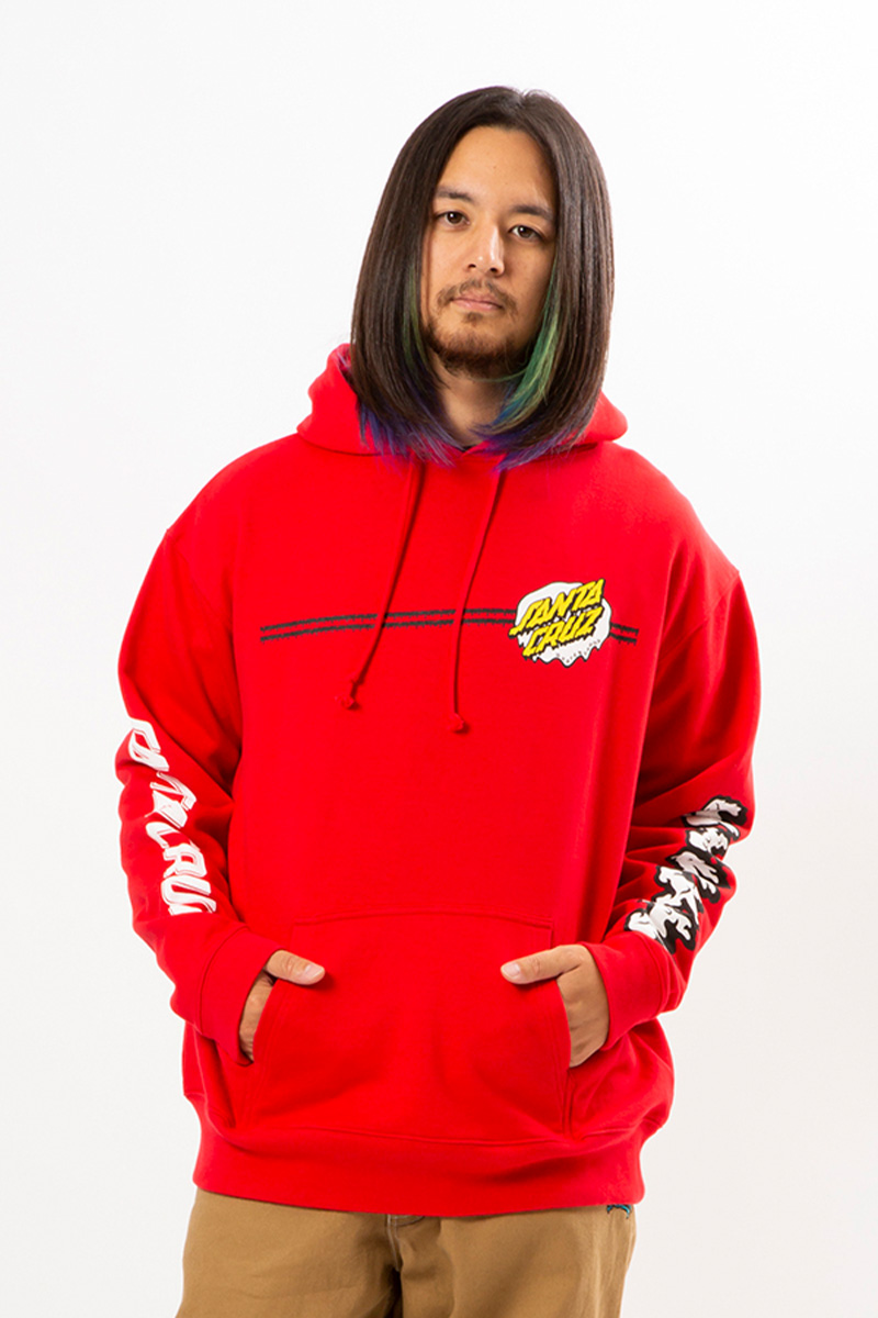 "MAGICAL MOSH MISFITS SANTA CRUZ x MxMxM ""MAGICAL DRIP DOT"" HOODIE RED"