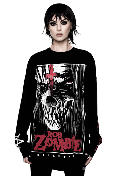 ROB ZOMBIE×KILL STAR CLOTHING The End Long Sleeve Top [B]
