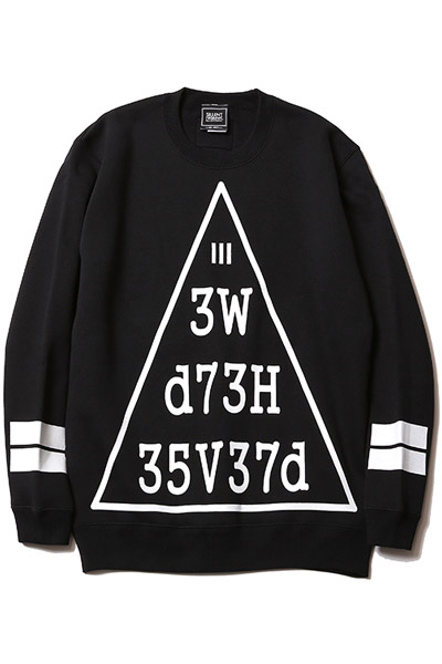 SILLENT FROM ME ENCRYPTION -Crew Sweat- BLACK