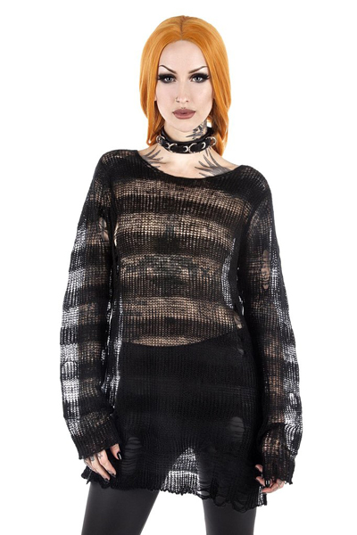 KILL STAR CLOTHING Spook N Destroy Knit Sweater [B]