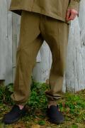 【予約商品】VIRGO Relaxed uniform jogger pants BEIGE