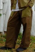 【予約商品】VIRGO  Non collar fusion fat pants KHAKI