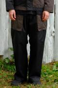 【予約商品】VIRGO  Non collar fusion fat pants BLACK
