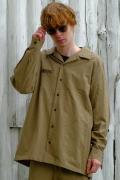 【予約商品】VIRGO  Relaxed uniform shirts BEIGE