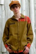 【予約商品】VIRGO  Native mix long shirts KHAKI