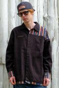 【予約商品】VIRGO  Native mix long shirts BLACK