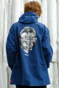 【予約商品】VIRGO  Big neck sell hoodie BLUE