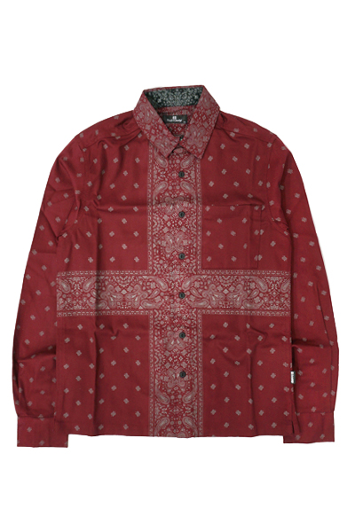 Subciety PAISLEY SHIRTS L/S BURGUNDY