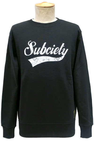 Subciety SWEAT-PAISLEY GLORIOUS- BLACK