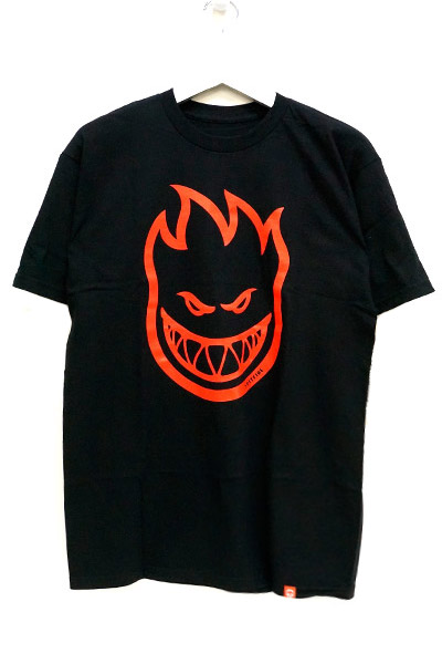 SPITFIRE BIGHEAD T-SHIRT BLACK/RED
