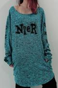 NieR WIDE NECK CUTSEW【Emerald】