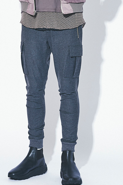 MUSIC SAVED MY LIFE (MSML) M1H5K-PT01 SKINNY CARGO PANTS GRAY