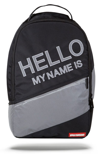 SPRAY GROUND HELLO REFLECTIVE BACKPACK