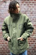 NOT COMMON SENSE CIRCLELOGO C/N RIPSTOP OZONE WASHINGJACKET OLIVE