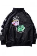 PUNK DRUNKERS [PDSxLAND BY MILKBOY]BIGシルエットMA-1.JKT BLACK