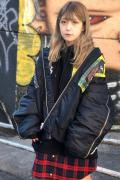 "NOT COMMON SENSE ""BREAK OUT""MA-1 JACKET BLACK"