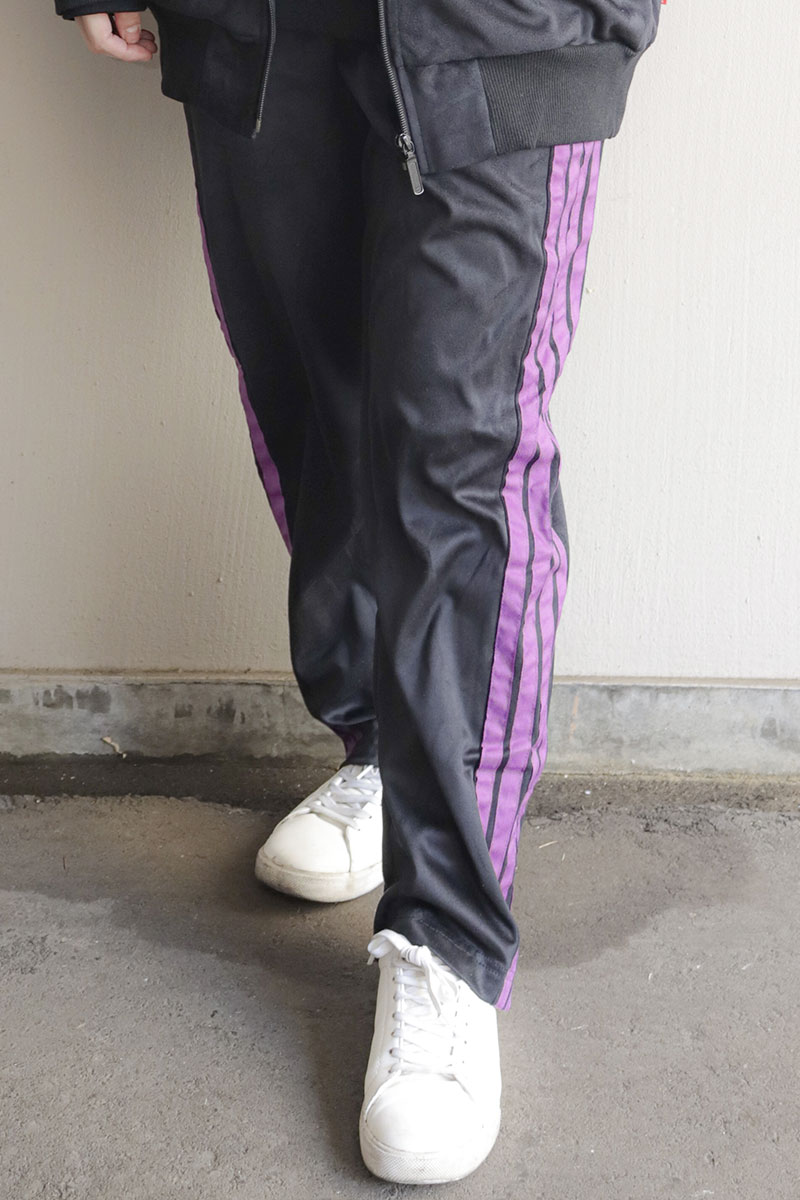 ROLLING CRADLE SUEDE TRACK PANTS BLACK