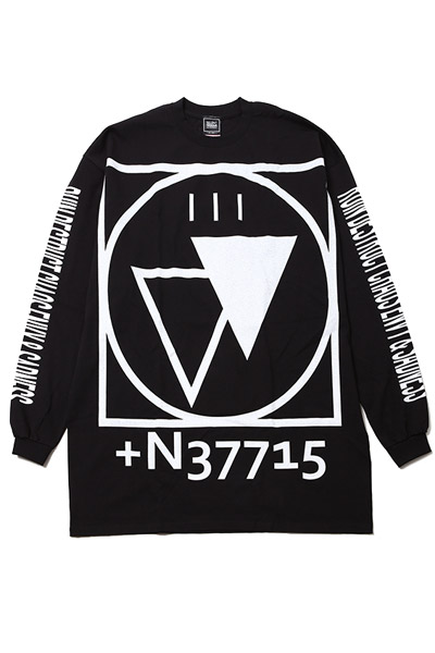 SILLENT FROM ME CRYPTIC -Outsize Long Sleeve-