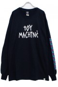 TOY MACHINE TMP19LT3 TAPE LOGO PT LT(LONG TEE) BLACK