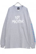 TOY MACHINE TMP19LT3 TAPE LOGO PT LT(LONG TEE) GRAY
