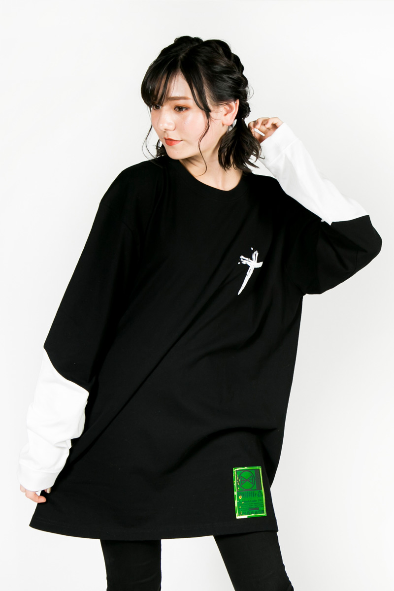 "【予約商品】HEDWiNG ""W"" Cross Longsleeve T-shirt Black"