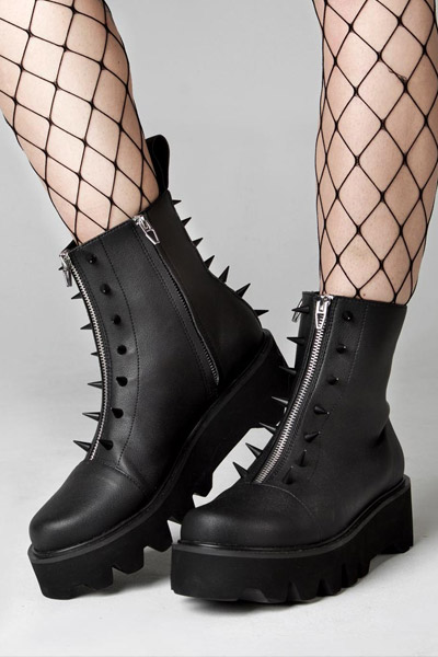 DISTURBIA CLOTHING Spike Boots