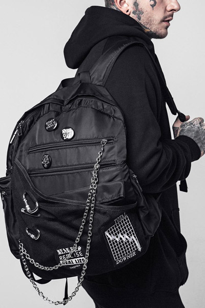 DISTURBIA CLOTHING Zero Backpack