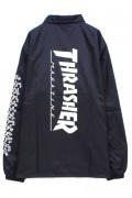 THRASHER THKH-NCJ19 Keith Haring COACH JACKET BLACK