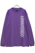 THRASHER THKH-LT19 Keith Haring L/S TEE PURPLE