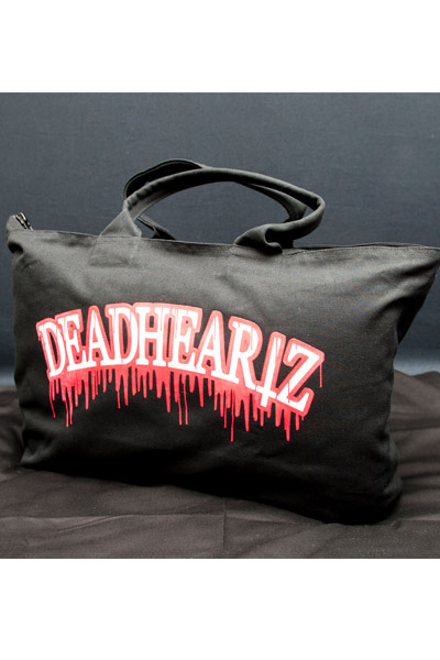 DEADHEARTZ BLOOD TOTE BAG BLK/RED